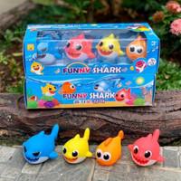 Mainan Anak Baby Shark 1 set isi 4 pcs / Kado Mainan Anak Baby Shark
