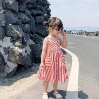 dress anak perempuan / dress tank top red korea / aliya dress
