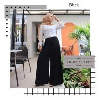 Celana Kulot Style Hitam Muslim Hijab Plisket Terbaru Fit To XXL TOV99