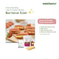 RED VELVET ÉCLAIR - Bundling Resep Matchamu