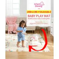 Karpet / Matras / PlayMat Lipat Tebal 1 cm untuk Bayi Merangkak Jalan