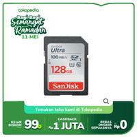 SanDisk Ultra SDXC Card 100MB/s class 10 128GB