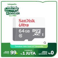 SanDisk Ultra Microsd 64GB 80MB/s - No Adapter