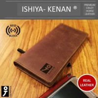 Dompet Pria Kulit Sapi Leather Bifold Panjang Original ISHIYA KENAN