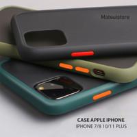 GLARE CASE IPHONE 7 8 10 11 PRO MAX PLUS ANTI MINYAK ANTI LENGKET - Putih