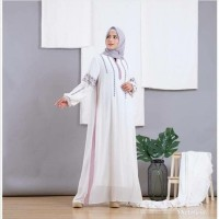 Kaftan Gamis ceruty import bordir original kombinasi list warna