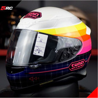 Shoei Z7 Zork TC-7 Pink White