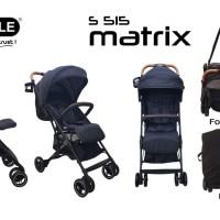 Stroller Baby Elle Kereta Dorong Bayi BabyElle 515 Matrix Bisa Gojek - BROWN