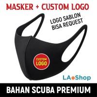 Masker Scuba Custom Logo Full Color / Masker Logo / Desain Suka-Suka