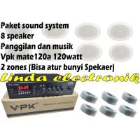 paket sound system panggilan dan musik vpk mate120a 120watt dan 8 toa