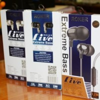 HEADSET HANDSFREE EARPHONE ROKER EXTREME LIVE RK35 ORIGINAL BLACK