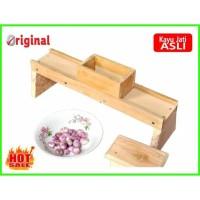 MURAH Jual Alat Pengiris / Pemotong Bawang merah / onion slicer kayu