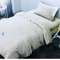 Bed Cover 150 x 210 cm & sprei set ukuran Single Emboss putih