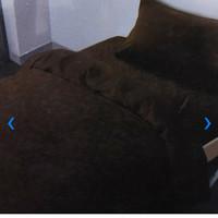 Bed Cover 150 x 210 cm & sprei set ukuran Single Emboss warna cokelat