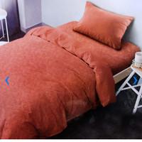 Bed Cover 150 x 210 cm & sprei set ukuran Single Emboss oranye