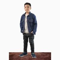 Jaket Jeans Denim Outdoor Washed anak remaja Unisex - Jfashion Percy
