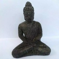 (BISA COD) Pajangan Miniatur Patung Dewa Budha Duduk Ukuran Kecil 17x8