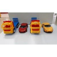 Mainan Anak Mobil Truck Trailer + Mobil