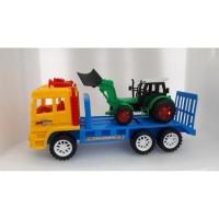 Mainan Anak Mobil Truck Trailer + Truck Bulldozer