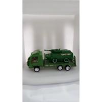 Mainan Anak Mobil Truck Trailer Army + Tank Army