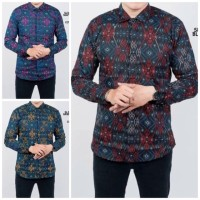 Dgm_fashion1 kemeja batik hitam songket lengan panjang best seller bat