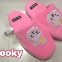 BT21 Sandal BTS sendal tidur home indoor bulu Slipper Slippers S7 - Cooky, 40-41