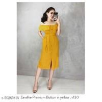 premium dress zara full buttons sabrina Bangkok murah korean sttle