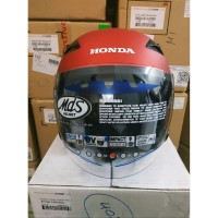 Helm Half Face ORI HONDA / Helmet Honda Luxury Red SIZE M 87100LXREDM
