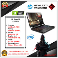 "Gaming HP Omen 15 - i7 9750H 16GB 512ssd RTX2070 8GB 15.6""FHD 144Hz"