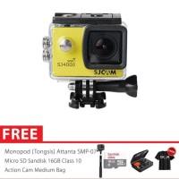 SJCAM SJ4000 WiFi Full HD Action Camera Super 16GB - Yellow