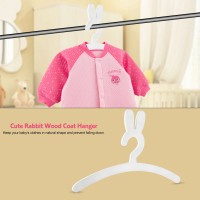 Baby Cute Hanger Hangers Clothes Kids Wood Rack Rabbit Coat Storage