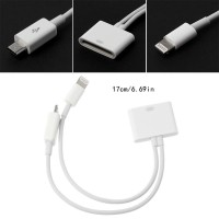 Untuk iPhone Kabel Adapter Charger 30Pin Female ke Micro USB + 8
