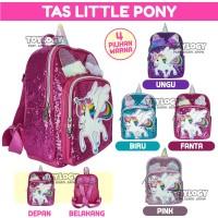 Tas Ransel Sekolah Anak Manik Sequin Little Pony Unicorn School Bag