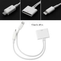 iPhone Kabel Adapter Charger 30Pin Female ke Micro USB + 8 Pin Male