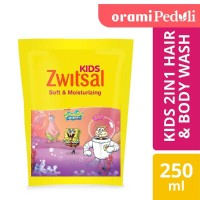 Zwitsal Kids 2 In 1 Sabun Mandi Cair Anak Soft And Moisturizing 250ml