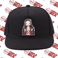 Topi Snapback Cotton Anime Kimetsu no yaiba nezuko chibi demon slayer