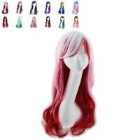Wig Panjang Keriting Bergelombang Warna Warni Untuk Cosplay