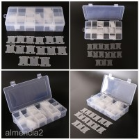 240 Floss Bobbin with 2pcs 18 Grid Embroidery Floss Storage Box