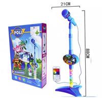 Mainan Anak Microphone Robocar Poli Mic Edukatif Bernyanyi Edukasi