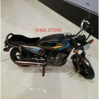 PROMO MINIATUR MOTOR RX KING PAJANGAN RUANG TAMU RUMAH ANTIK BEST