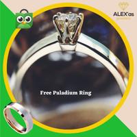 cincin berlian solitaire ring natural diamond emas 18k 7 hari ALXFvvs