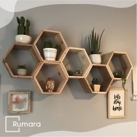 RAK DINDING MINIMALIS / Rak dinding hexagon