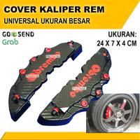 Cover Kaliper Rem Mobil BESAR - Caliper Brembo - Pelindung Universal - Hitam