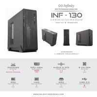 CASING INFINITY 130 ( MICRO ATX, INCLUDED PSU 300 WATT, NO FAN)