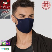 Masker Kain Rider Anti Bakteri 2 ply (Earloop Biru)