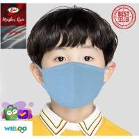 Masker Kain Anak-Anak Rider Anti Bakteri 2ply (Earloop Biru Muda)