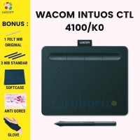 WACOM Intuos Draw Pen Tablet Small (CTL490/B0 Mint Blue) free softcase