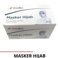 Masker Hijab Stardec 1 box isi 50 pc - 3ply headloop medis