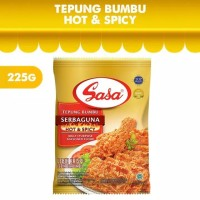 sasa tepung bumbu serbaguna hot and spicy 225 gram
