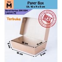 Kotak Makanan / Kotak Nasi Kertas (Paper Lunch Box) LB01K2 Ukuran M